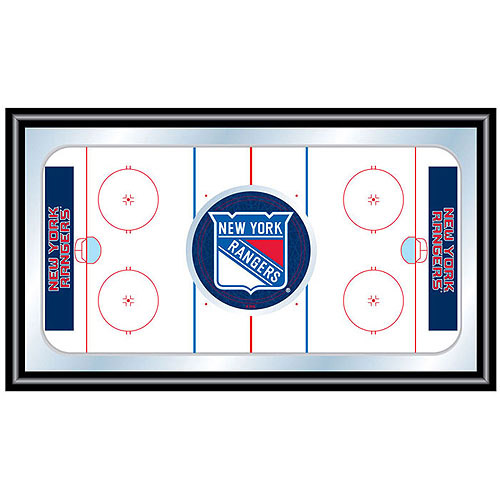 NHL New York Rangers Framed Hockey Rink Mirror
