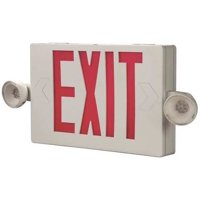 COOPER LIGHTING Exit Sign w/Emergency Lights,2.3W,Red APCH7R