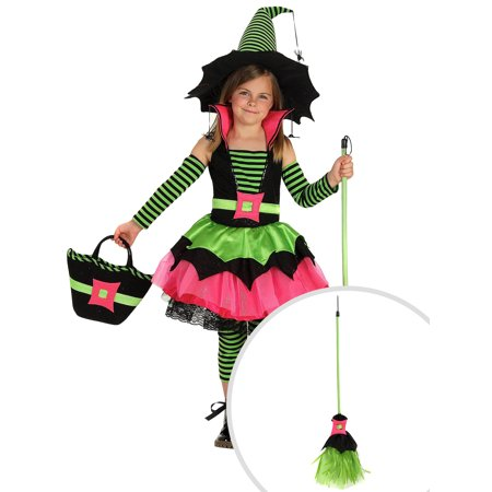 Girl's Spiderina Witch Costume and Spiderina Girl's Duster - Spiderina Witch Costume