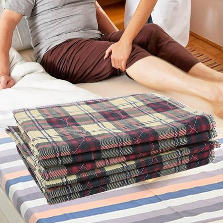 WALFRONT 6pcs sous-tapis réutilisable lavable imperméable enfants adulte coussin d'incontinence, coussin d'incontinence, sous-tapis réutilisable - image 5 de 8
