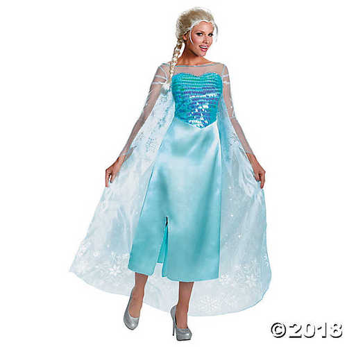 Women's Deluxe Frozen™ Elsa Costume - Medium