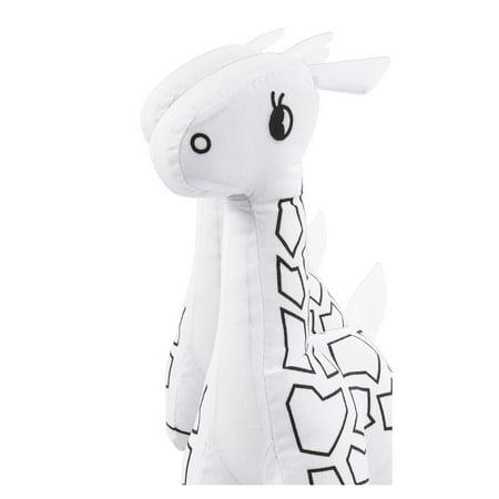 mini white giraffe stuffed animal coloring kit. Black Bedroom Furniture Sets. Home Design Ideas