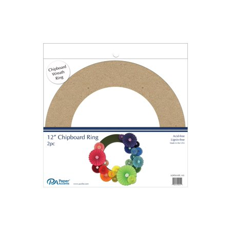 "Chip Shape 2Pc 12"" Chipboard Ring Natural - image 1 of 1"