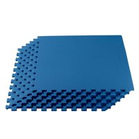1/2 Inch SUPER EXTRA Thick EVA Foam Mat with Interlocking Tiles 24 Square Feet for MMA, Exercise, Gymnastics and Home Gym Protective Flooring
