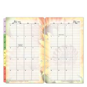 Pocket Blooms Two-Page Monthly Calendar Tabs -  Jul 2016 - Jun 2017