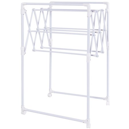 Gymax Heavy Duty Portable Folding Drying Rack Sheet Hanger Rolling Laundry Clothes - image 2 de 7