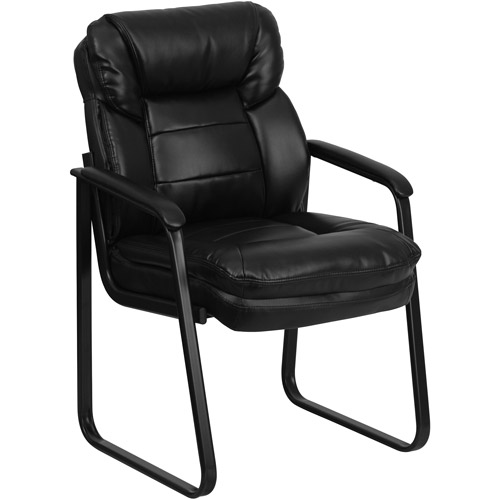 Flash Furniture Executive Side Chair with Sled Base, Black