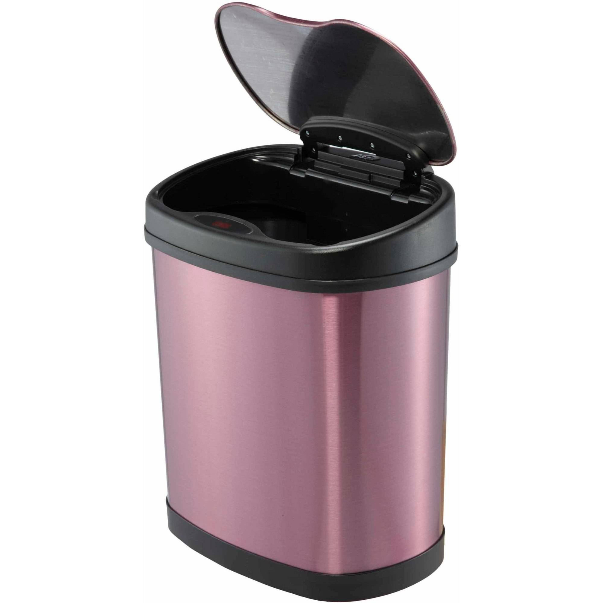 nine stars motion sensor 3 1 gallon trash can purple walmart