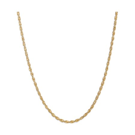 14k Yellow Gold 3.5mm Marquise Chain - image 5 of 5