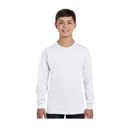 Gildan Big Boys Seamless Crewneck Long Sleeve T-Shirt, Style G5400B ()