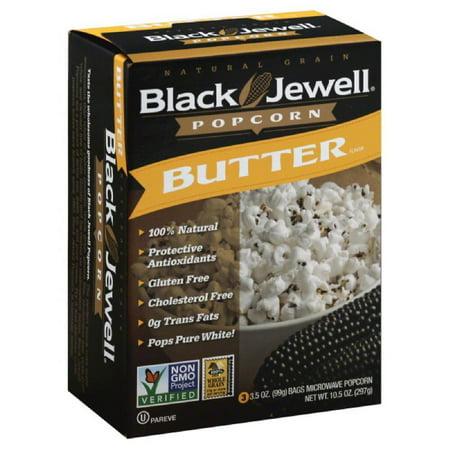 Black Jewel Popcorn (Black Jewell Butter Flavor Microwave Popcorn, 10.5 Oz (Pack of 6) )