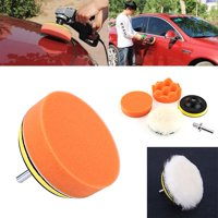 YLSHRF 5Pcs 4inch Polishing Buffing Pad Kit Tool For Car Polisher Buffer With M10 Drill Adapter