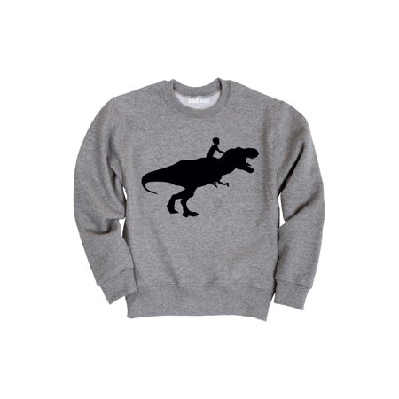 Kid Riding Dinosaur-TODDLER CREW FLEECE Ride Crew Sweatshirt
