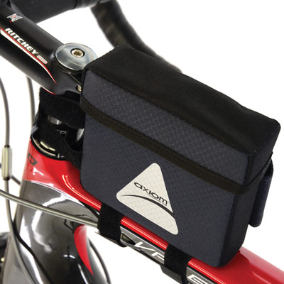 Axiom Smart Box Handlebar Bag, Grey/Black
