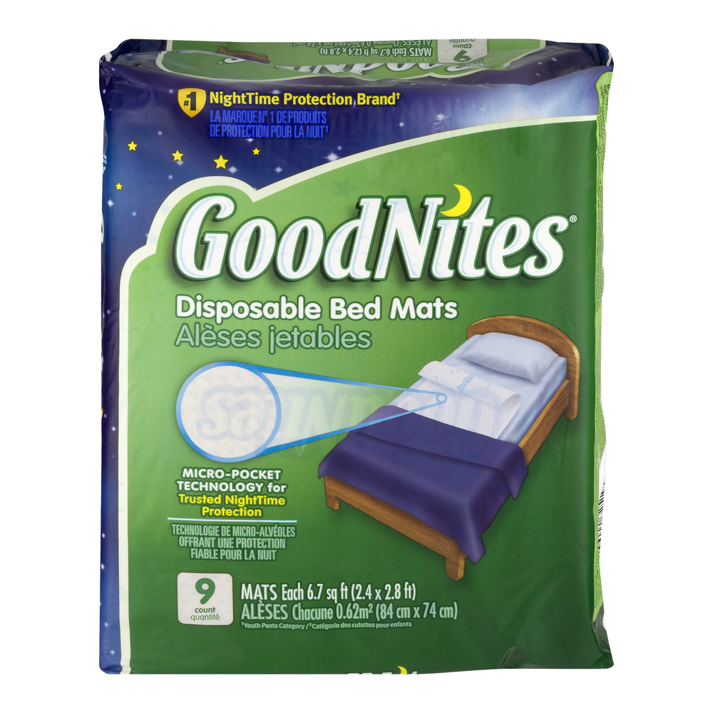GoodNites Disposable Bed Mats - 9 CT