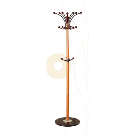 Jacket Frame (US Pride Furniture Wood Frame and Black Marble Base Coat Rack Stand)