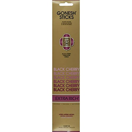 Gonesh Charcoal Incense Sticks - Black Cherry