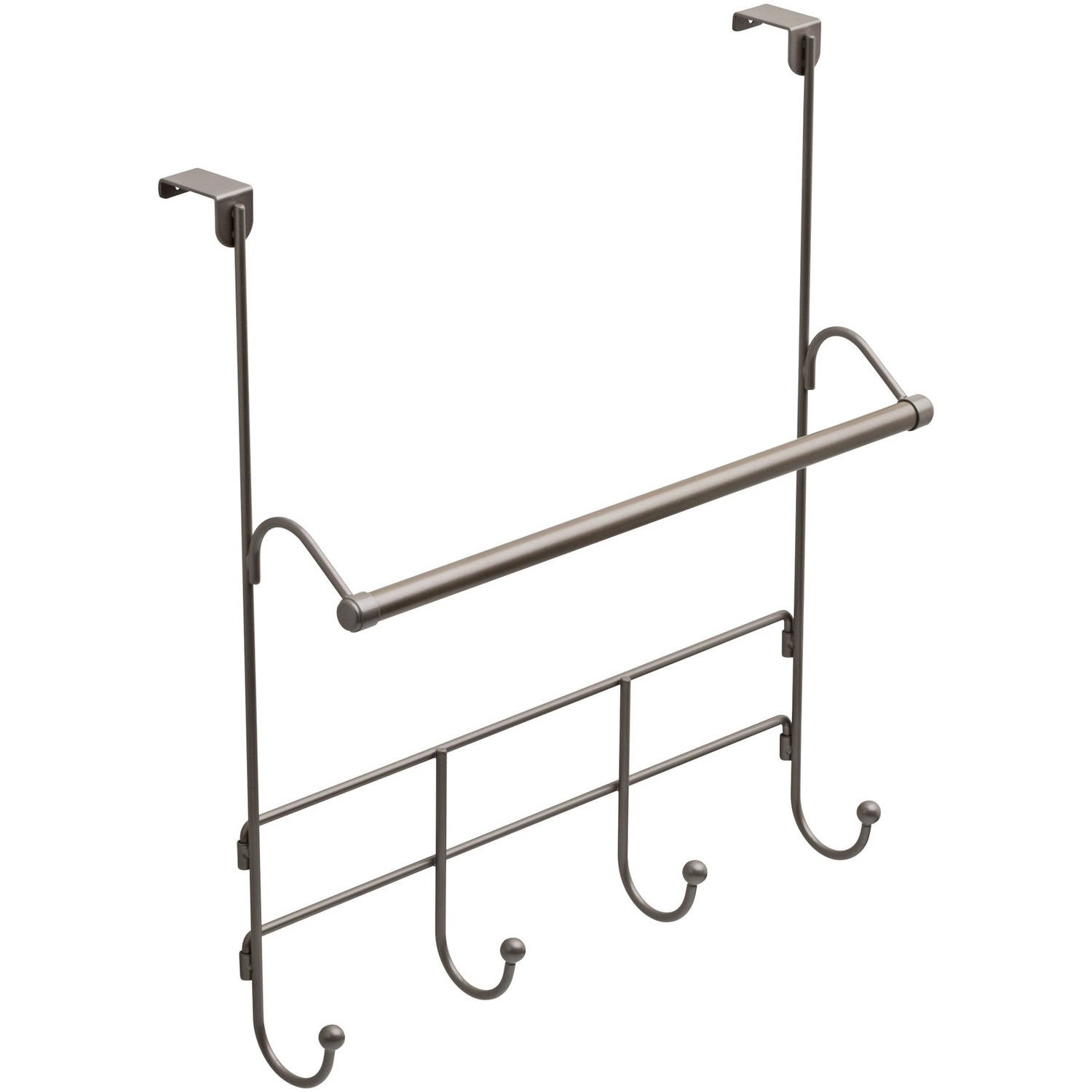 Mainstays Over The Door Towel Rack With Hooks