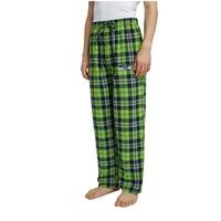 Men's Neon Green/College Navy Seattle Seahawks Ballot Flannel Lounge Pants