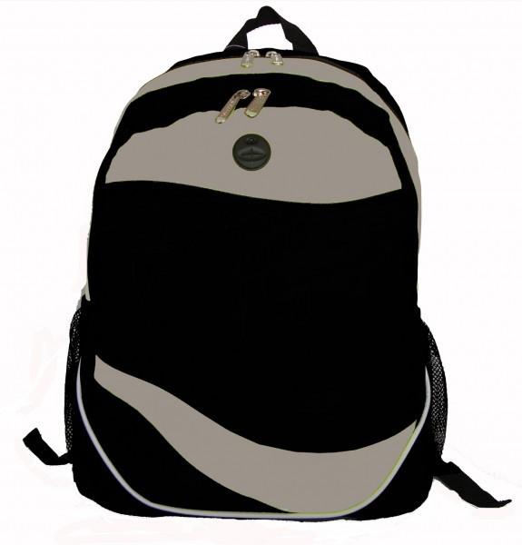 "Ddi 600d Poly Backpack, 17.5""x12""x6"", Black/grey. (pack Of 30)"