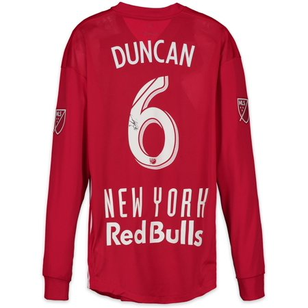 Kyle Duncan New York Red Bulls Autographed Match-Used Red #6 Jersey vs. Portland Timbers on March 10, 2018 - Fanatics Authentic Certified (Duncan Autographed Baseball)