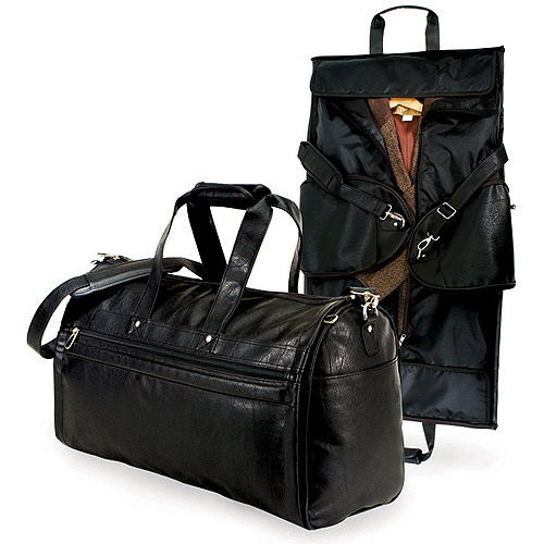 2-In-1 Carry On Garmet Duffel Bag, Black