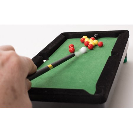 Desktop Miniature Pool Table Set With Mini Pool Balls And Cue Sticks - Mini billiards table set