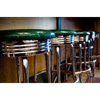 Retro Bar Stools I, Fine Art Photograph By: Erin Berzel; One 36x24in Fine Art Paper Giclee Print by Gango Home Décor