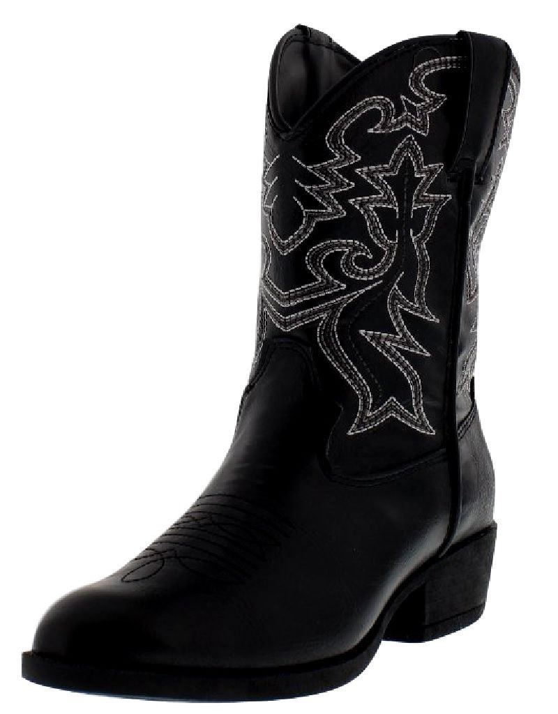 """Laredo Western Boots Boys Cowboy 8"""" Cowboy R Toe Black LC2430 by Laredo"""