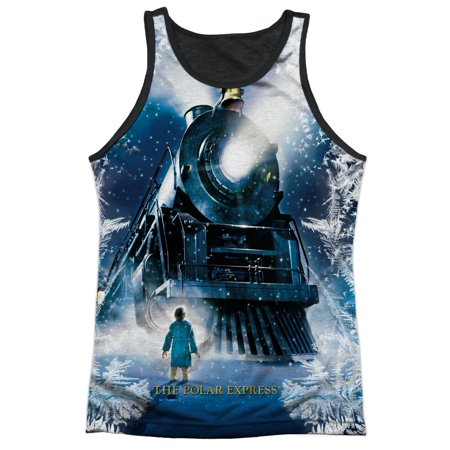 Polar Express Animated Movie Train Poster Adult Black Back Tank Top Shirt - Adult Animated Movies
