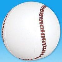 """1 Dozen Fun Inflatable Baseballs (9"""") Party / Favor / Decor / Beach"""