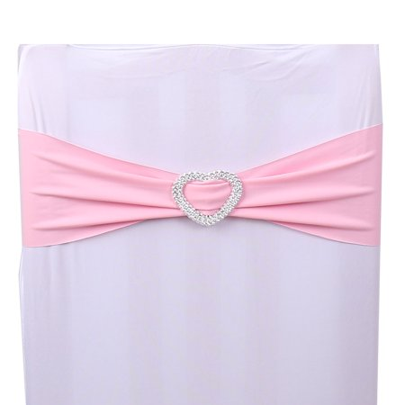 Spandex Elastic Heart Decor Wedding Party Banquet Reception Chair Cover Sash Band ()