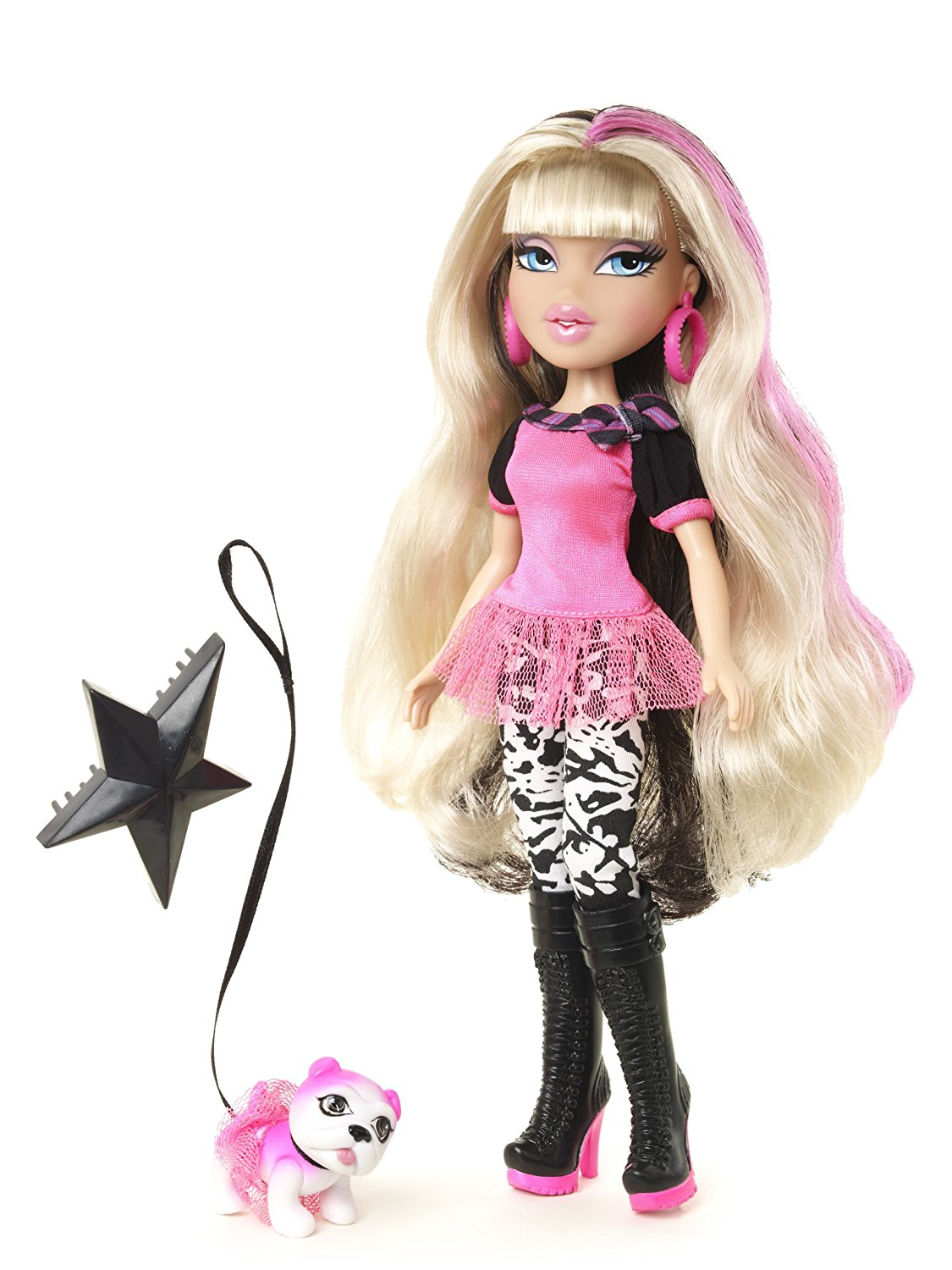 Neon Runway Doll Cloe (Blonde, Black and Pink), Neon-trimmed boots and outfits By Bratz... by