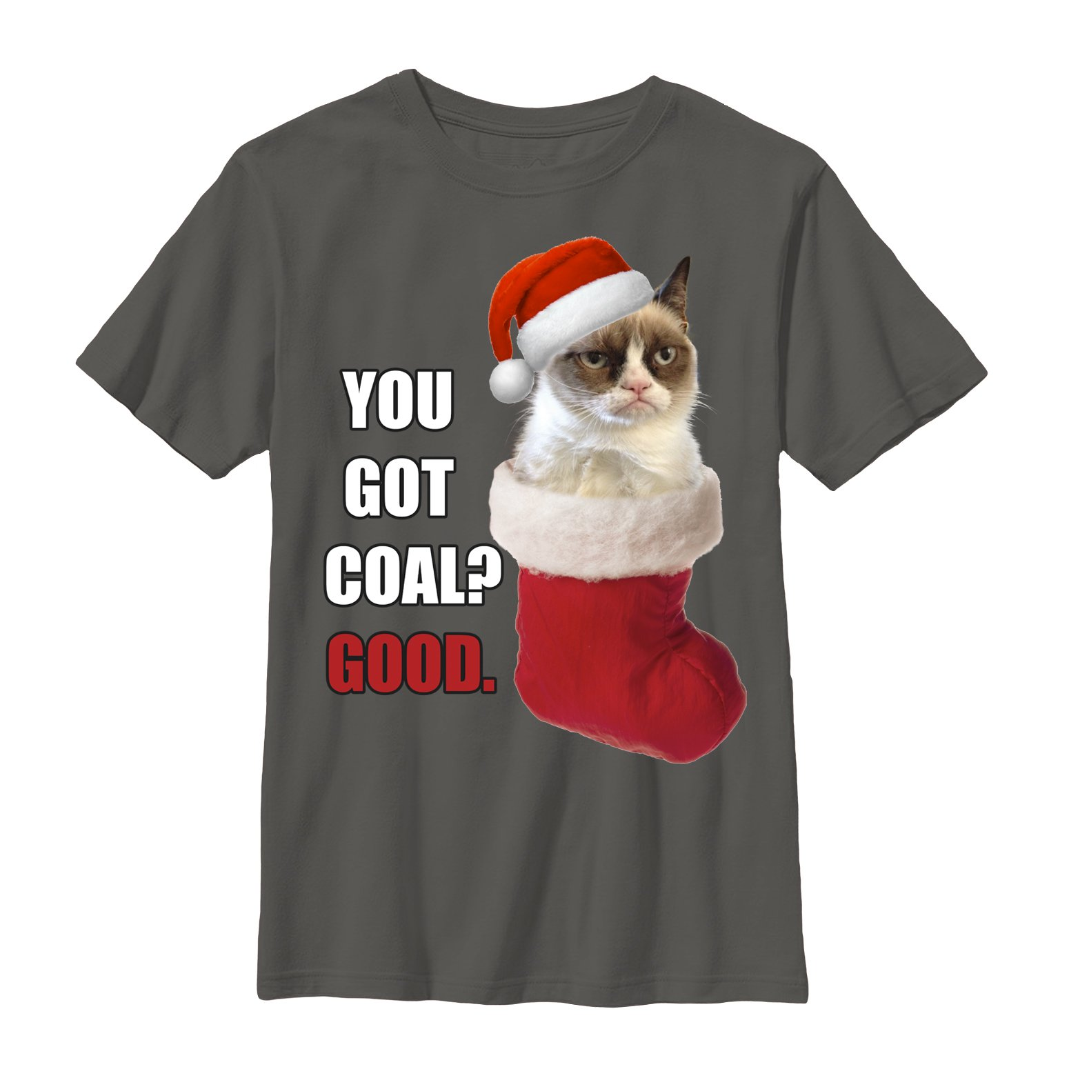 Grumpy Cat Boys' You Got Coal T-Shirt