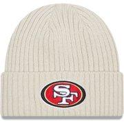 San Francisco 49ers New Era Youth Core Classic Stone Knit Cuffed Hat - Cream - OSFA