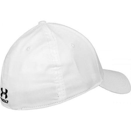 27090cb0596c Under Armour - NEW Under Armour Jordan Spieth Tour White Black Fitted  Stretch-Fit Hat Cap OSFM - Walmart.com