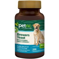 PetNC Natural Care Brewers Yeast Chewables for Dogs, Liver Flavor 250 ea