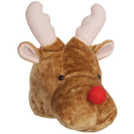 Loftus Rudolph Santas Reindeer Red Nose Costume Hat, Brown Red, One-Size (Rudolph Costume Ideas)