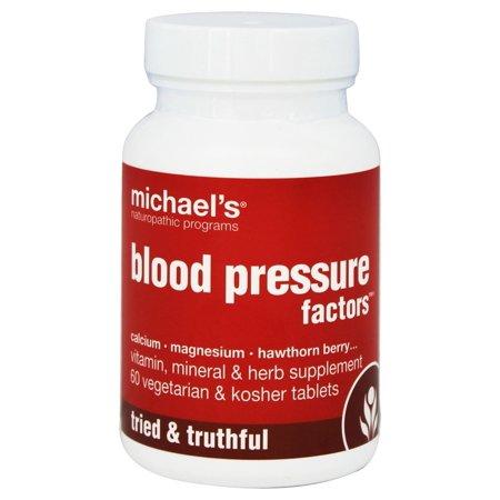 Michaels Naturopathic Programs   Blood Pressure Factors   60 Vegetarian Tablets