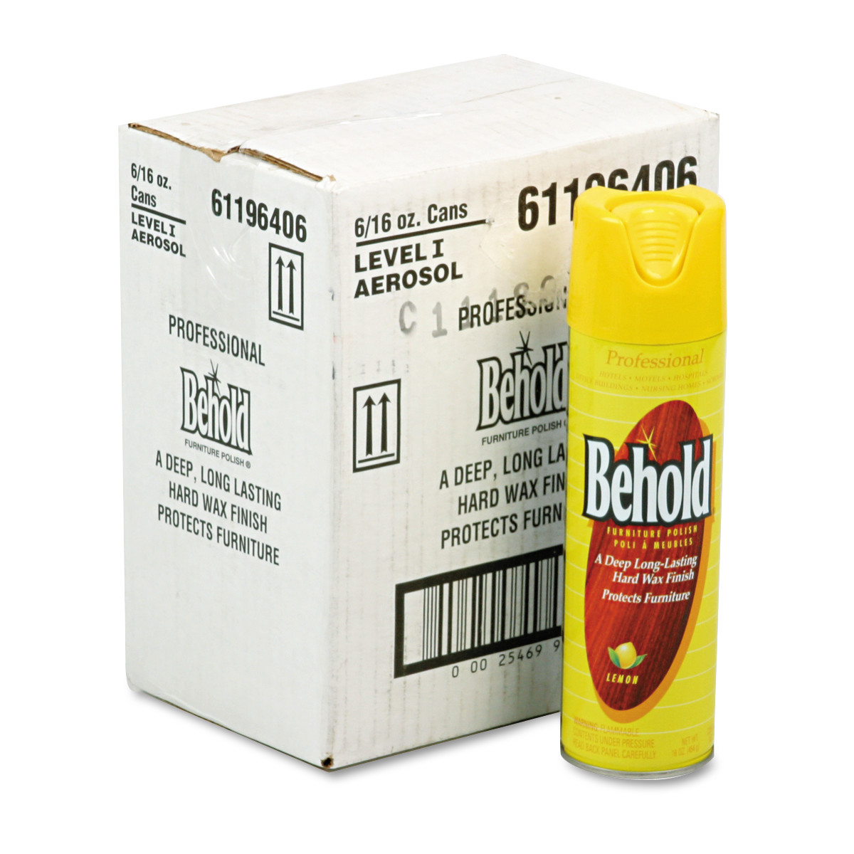 Ecolab Professional Behold Furniture Polish, 16oz Aerosol, 6/Carton