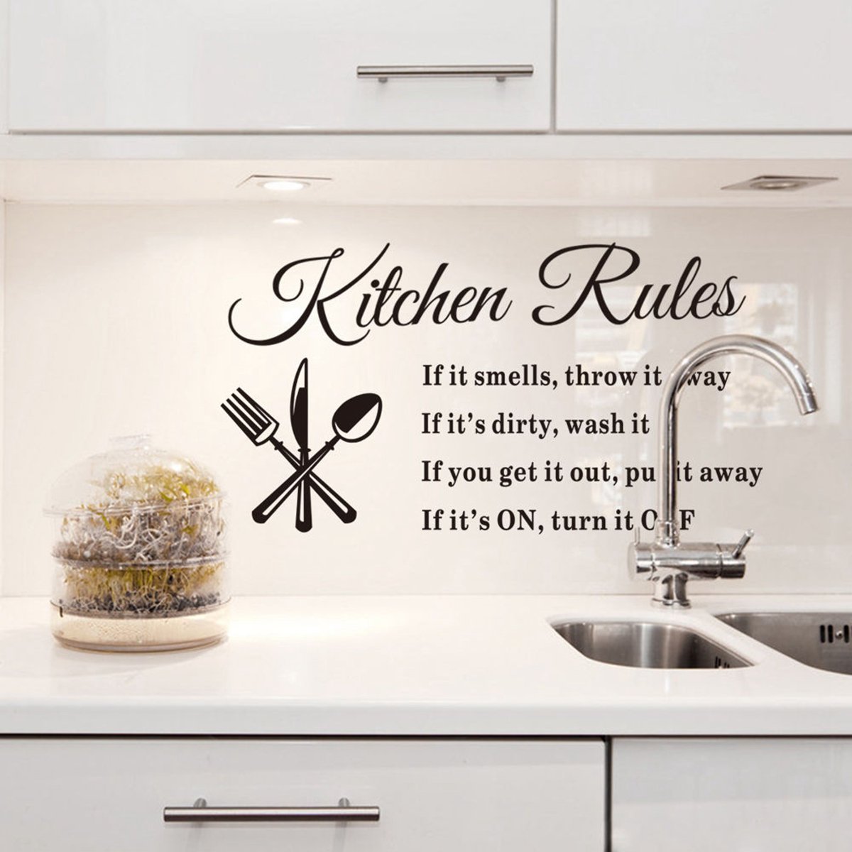 Jeteven removable kitchen rules words wall stickers decal home jeteven removable kitchen rules words wall stickers decal home decor2362x1299 walmart amipublicfo Choice Image