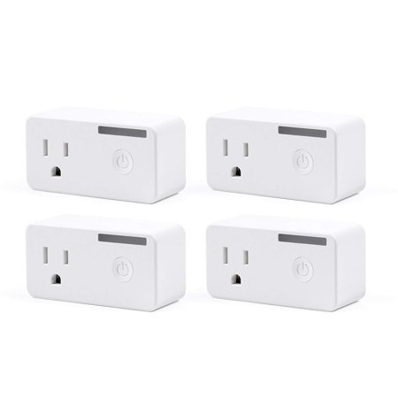 BN-LINK 4 Pack Smart Wi-Fi Plug Outlet with Energy Monitoring and Timer Function, No Hub Required, Works with app 4p 60a Plug