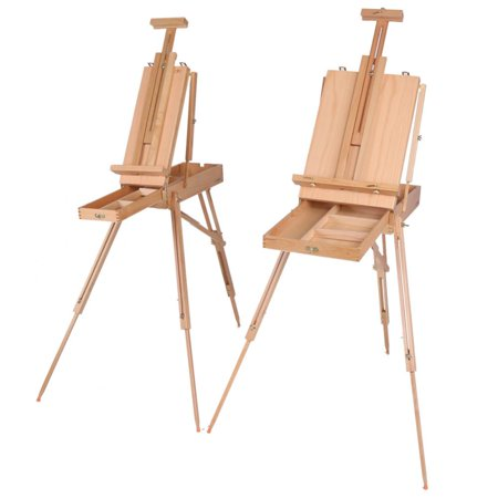 Tbest 1pc Wooden Table Painting Easel Sketch Box Portable Folding Artist Painters Tripod, Table Easel, Box Easel