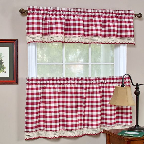 Buffalo Check Window Curtain Valance - 58x14 - Walmart.com