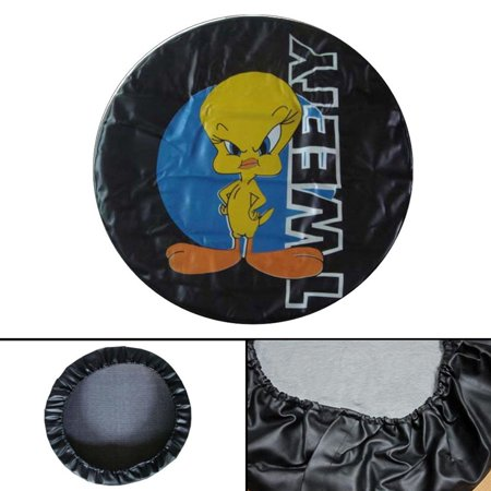 "Image of ""Areyourshop Size M L XL Tweety Spare Wheel Tire Cover Pouch Soft Case Protector 28""""-33"""" Tweety Spare Wheel Tire Cover Pouch Soft Case Protector 28""""-33"""" inches"""