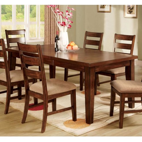 Charlton Home Angelica Extendable Solid Wood Dining Table