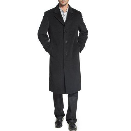 Cashmere Storm Jacket - BGSD Mens Henry Cashmere Blend Long Walking Coat (Regular & Tall)