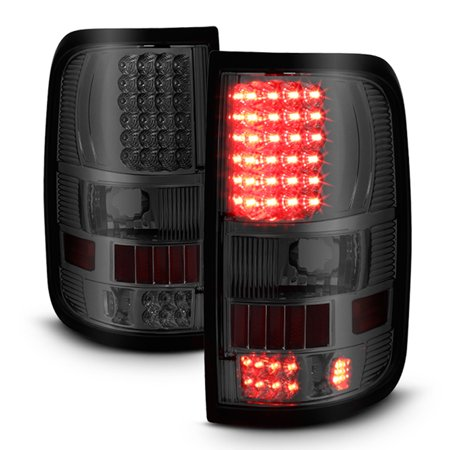 Fits 04-08 F-150 F150 Styleside Body LED Smoke Tail Lights Lamp Pair Left+Right (Body Tail Lamp)