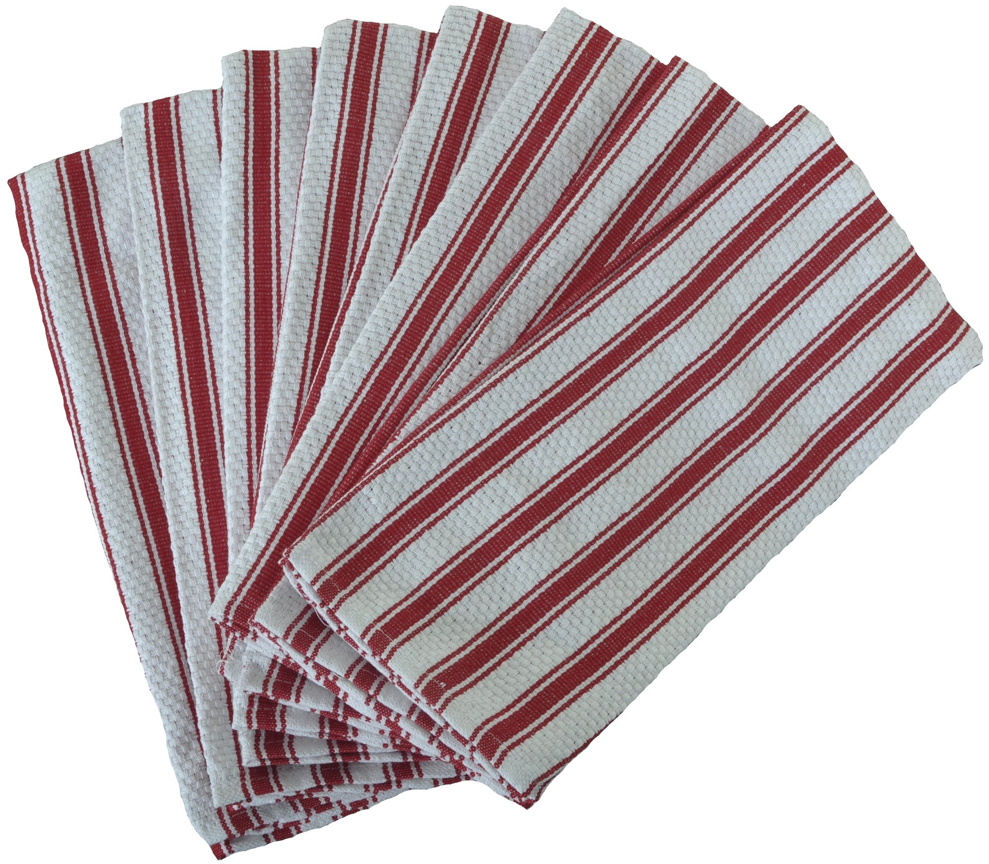 Nouvelle Legende Basketweave Kitchen Towels 19 X 29in (8-Pack) Red by Eurow & O'Reilly Corp.