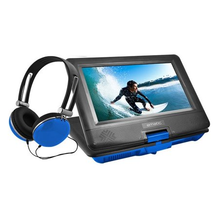 Ematic Epd116 Portable Dvd Player – 10″ Display – 1024 X 600 – Blue – Dvd-r, Cd-r – Dvd Video, Video Cd, Mp4, Divx – Cd-da, Mp3 – Lithium Polymer (epd116bu)
